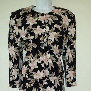 Jones New York 2-Piece Suit w/Pink Floral Pattern